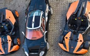 Обои Верх, Оранжевые, Spyker C8, Черный