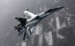 Обои самолет, истребитель, Су-35