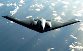 Картинка Spirit, B-2, Northrop, ВВС США, стратегический бомбардировщик