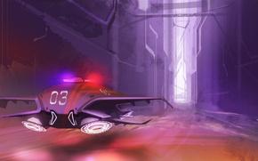 Картинка город, art, sci-fi, Sci-Fi aircraft