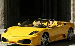 Картинка F430, Ferrari, supercar, yellow, Spider
