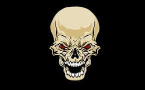 Картинка глаза, череп, зубы, skull