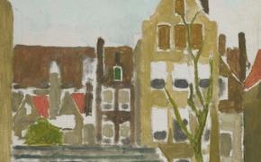 Картинка картина, городской пейзаж, Георг Хендрик Брейтнер, Группа Домов