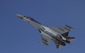 Картинка небо, полет, ВВС, Су-35С, Росси