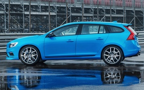 Картинка голубой, Volvo, Профиль, Вольво, S60, Polestar
