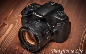 Картинка стол, обои, фотоаппарат, Canon EOS 60D