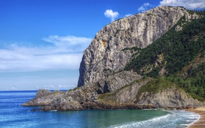 Картинка море, природа, скала, фото, побережье, Испания, Bay of Biscay