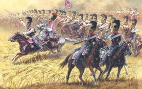 Картинка Русские кирасиры 1812-1814гг. С начала войны с Наполеоном, также имелось два кремневых гладкоствольных пистолета, до …
