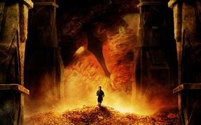 Обои дракон, Bilbo, Martin Freeman, глаз, Хоббит: Пустошь Смауга, The Hobbit: The Desolation of Smaug