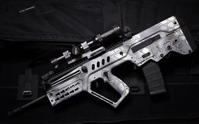 Обои автомат, оптика, винтовка, TAR-21, Тавор, фон, штурмовая, стиль, оружие