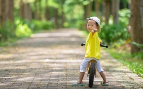 Картинка велосипед, настроение, мальчик