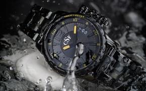 Картинка yellow, watch, water clock