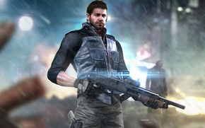 Обои fan art, capcom, bsaa, resident evil, chris redfield