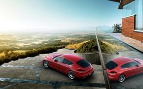 Картинка Porsche, горизонт, Panamera, порше, панамера, GTS, 2015