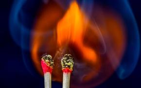 Картинка огонь, пламя, спички