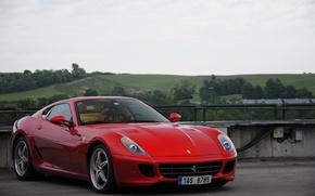 Картинка Ferrari, Red, 599, HGTE
