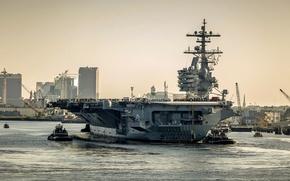 Картинка оружие, армия, aircraft carrier, USS George H.W. Bush (CVN 77)