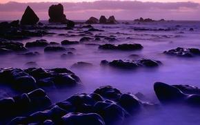 Картинка вода, туман, скалы, Камни