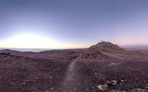 Картинка обсерватория, Chile, Paranal Observatory, road of astronomy paradise