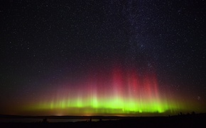 Картинка звезды, северное сияние, aurora, stars