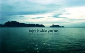 Обои Enjoy it while you can, deviantart, bobbyperux, roberto abril hidalgo, острова, вода, скалы, небо, Море, ...