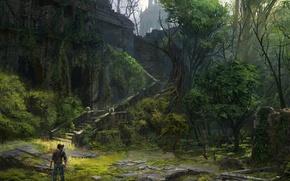 Картинка Игры, Art, Game, Naughty Dog, Натан Дрейк, Uncharted 2: Among Thieves