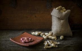 Картинка макро, фон, орехи