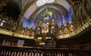 Картинка Канада, церковь, религия, алтарь, Собор Монреальской Богоматери, Базилика Нотр-Дам де Монреаль