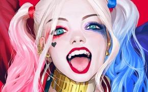 Обои Girl, Art, Харли Квинн, DC Comics, Harley Quinn, Suicide Squad