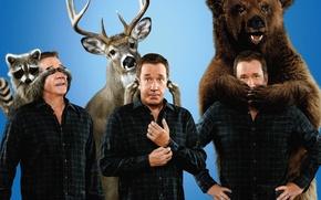 Картинка bear, man, Last Man Standing, alliance, pose, deer, show, executive, raccoon, TV series, corsa, tv …