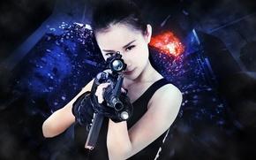Картинка девушка, оружие, игра, азиатка, 91WAN
