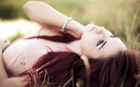 Картинка grass, redhead, pose, susan coffey