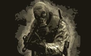 Картинка автомат, противогаз, спецназовец