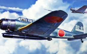 Картинка war, art, painting, aviation, ww2, night fighter