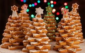 Картинка елки, печенье, Рождество, Новый год, Christmas, выпечка, decoration, xmas, Merry