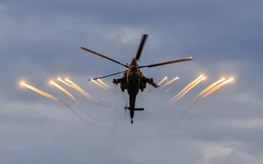 Картинка вертолёт, российский, ударный, «Беркуты», Mi-28N