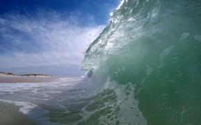 Картинка море, небо, берег, волна