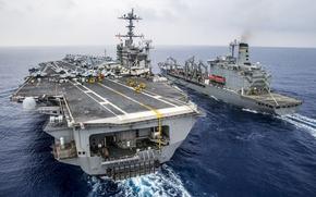 Картинка море, оружие, корабли, aircraft carrier USS George Washington (CVN 73)