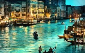 Картинка рисунок, картина, Италия, Венеция, Italy, art, Venice, Italia, Venezia