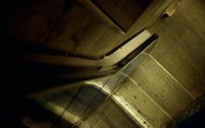 Картинка город, спуск, здание, ступеньки, разное, эскалатор, подъём