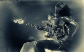 Картинка гитара, ванна, Artist, MALINA MOYE