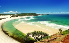 Обои природа, вода, пляж, песок