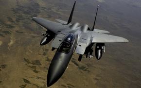 Картинка самолет, фон, мощь, истребитель, ракеты