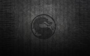 Картинка полосы, темный фон, черный, дракон, текстура, лого, mortal kombat
