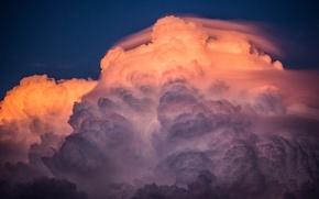Картинка небо, закат, краски, облако, туча