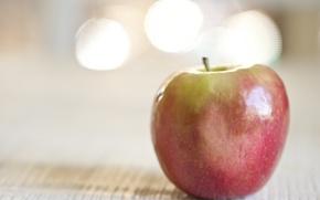 Картинка макро, фон, яблоко
