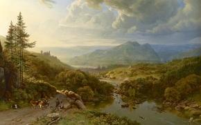 Картинка картина, живопись, painting, Barend Cornelis Koekkoek, 1832