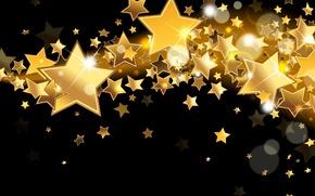 Картинка звезды, сияние, фон, золото, блеск, golden, gold, glow, background, stars, sparkle, glitter