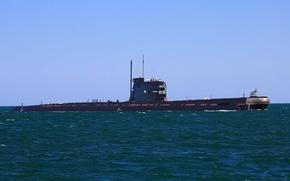 Картинка флот, подводная лодка, submarine, океане.