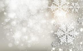 Картинка зима, снежинки, рождество, свечи, Новый год